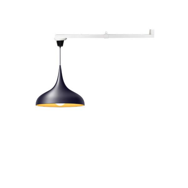 Vrida Lamparm 1m med svart taklampa