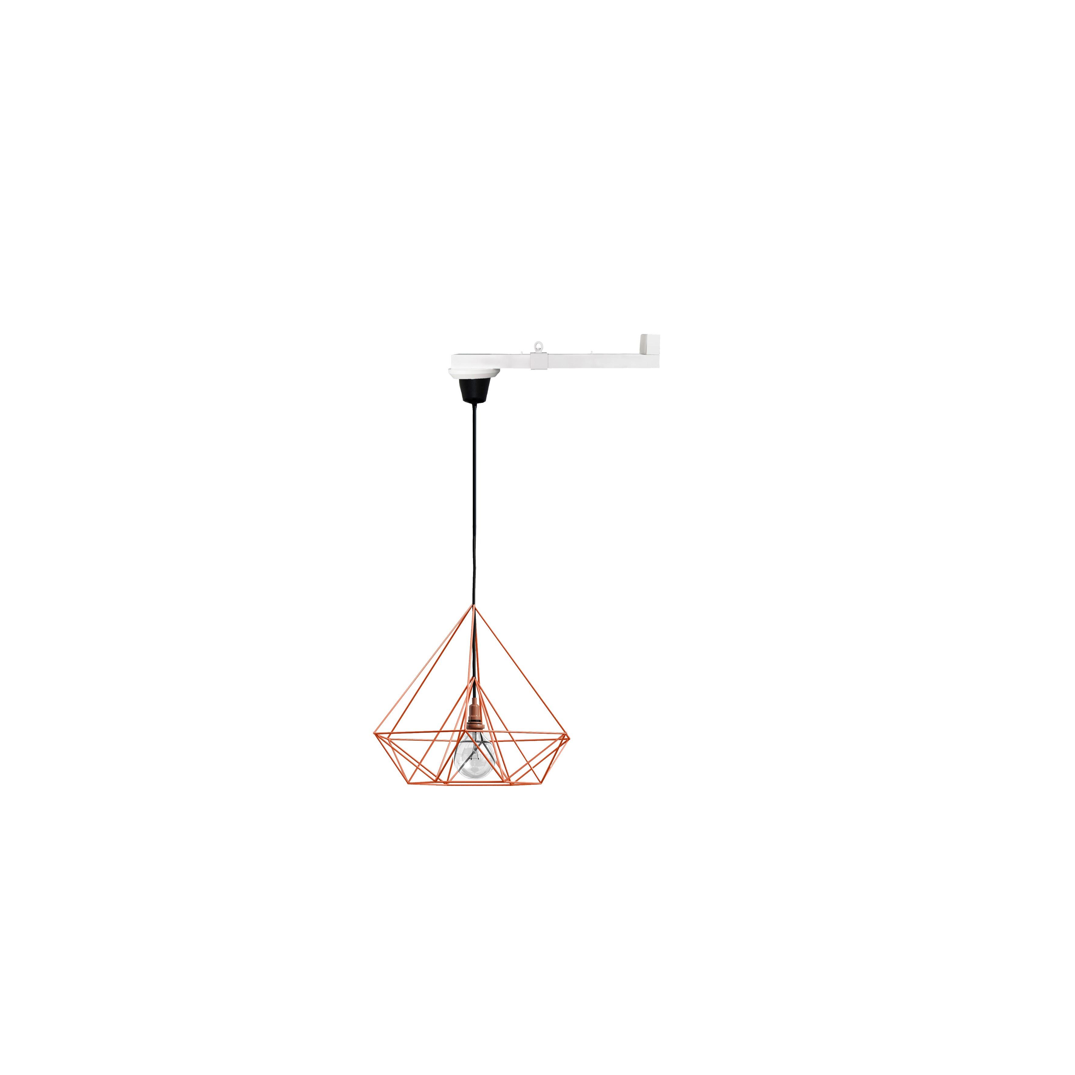 Vrida Lamparm 0,5m med röd taklampa