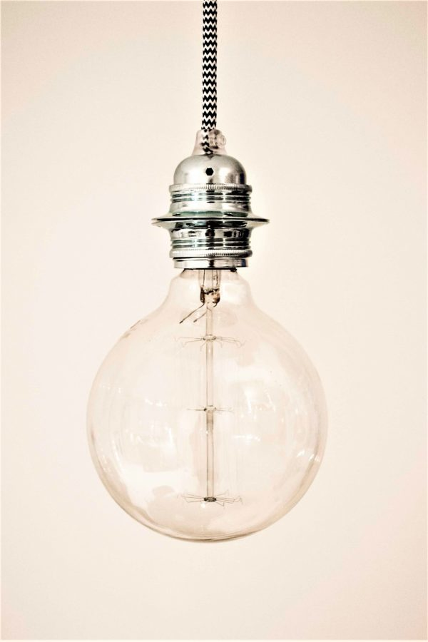 Lamphållare i zink