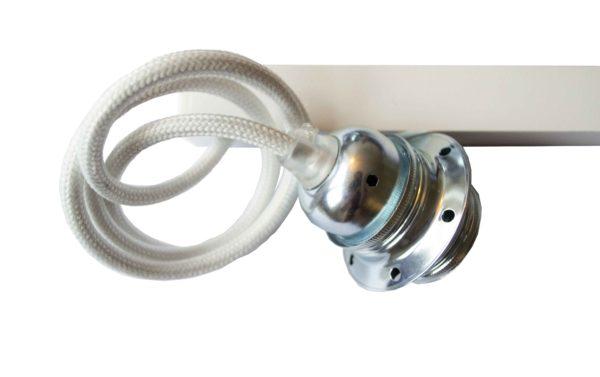 Lampupphäng vit och zink på förlängningsarm Vrida Light