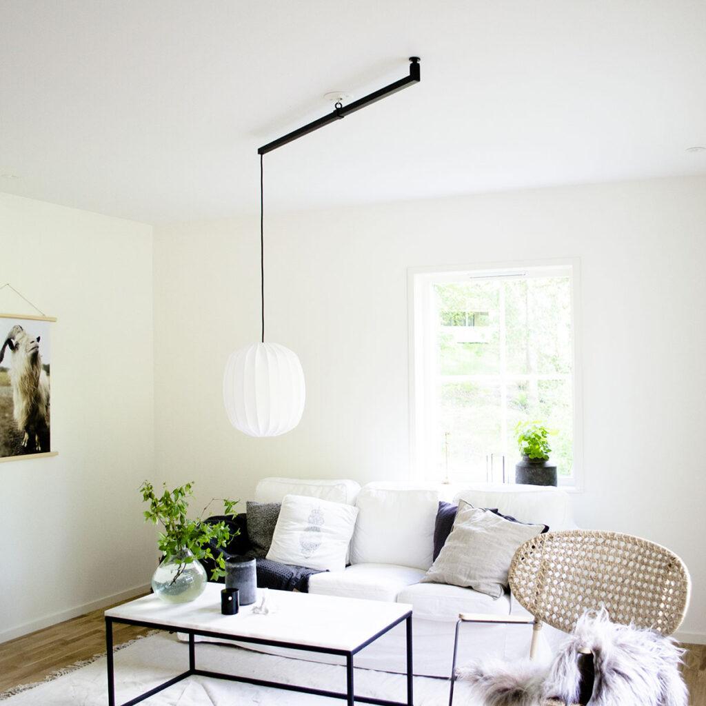 Förlängningsarm för att flytta taklampan - Vrida Light svart