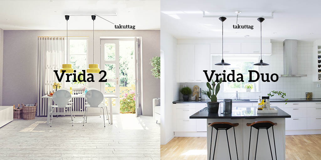 Lamparmar för två taklampor